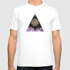 AGHAMASH White MEDIUM Mens Fitted Tee