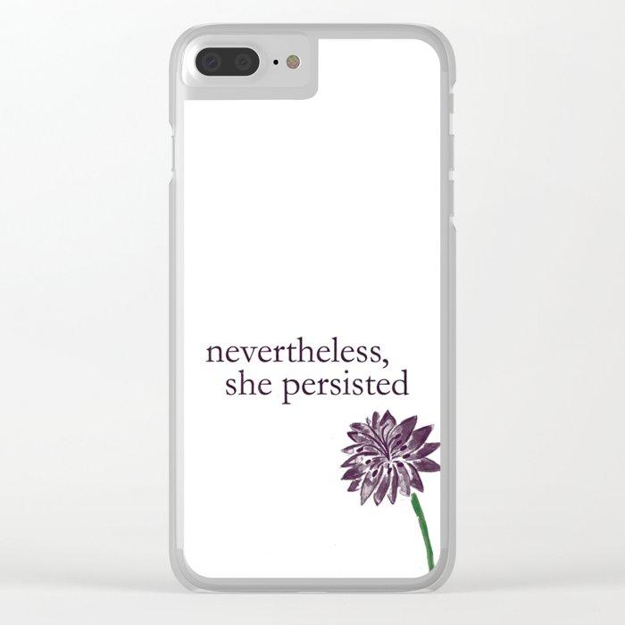 Grow Anyways Clear iPhone Case