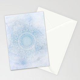 Frosty mandala Stationery Cards