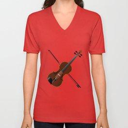Fiddle Unisex V-Neck