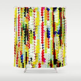 bohemian abstract pattern Shower Curtain