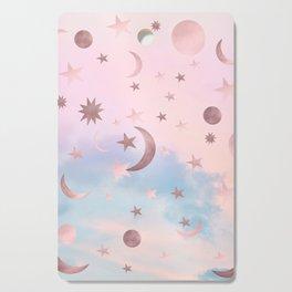 Pastel Starry Sky Moon Dream #2 #decor #art #society6 Cutting Board