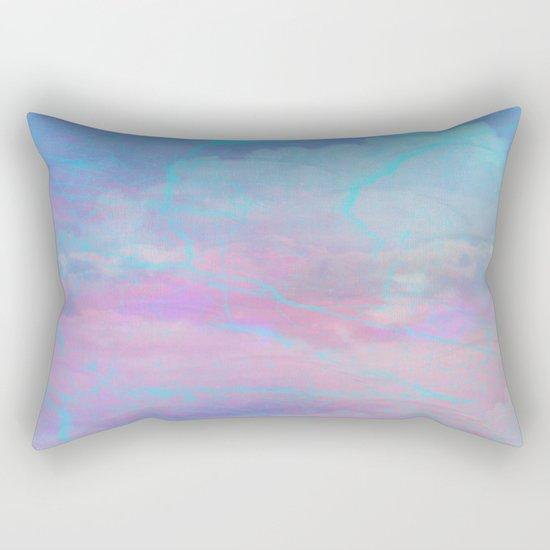 Marble Sky Abstract Rectangular Pillow