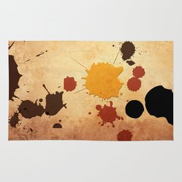 Abstract Indian Yellow Splash Rug