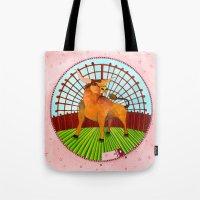 taurus Tote Bags featuring Taurus by Sandra Nascimento