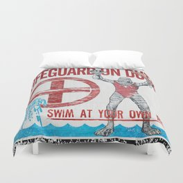 The Creature Lifeguard Is On Duty (1) Duvet Cover