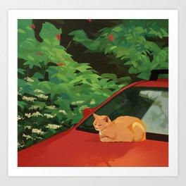 nostalgia cat Art Print