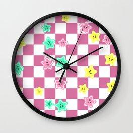 vintage fantasy star chess Wall Clock