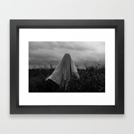 Ghost in the Field - Wide Framed Art Print