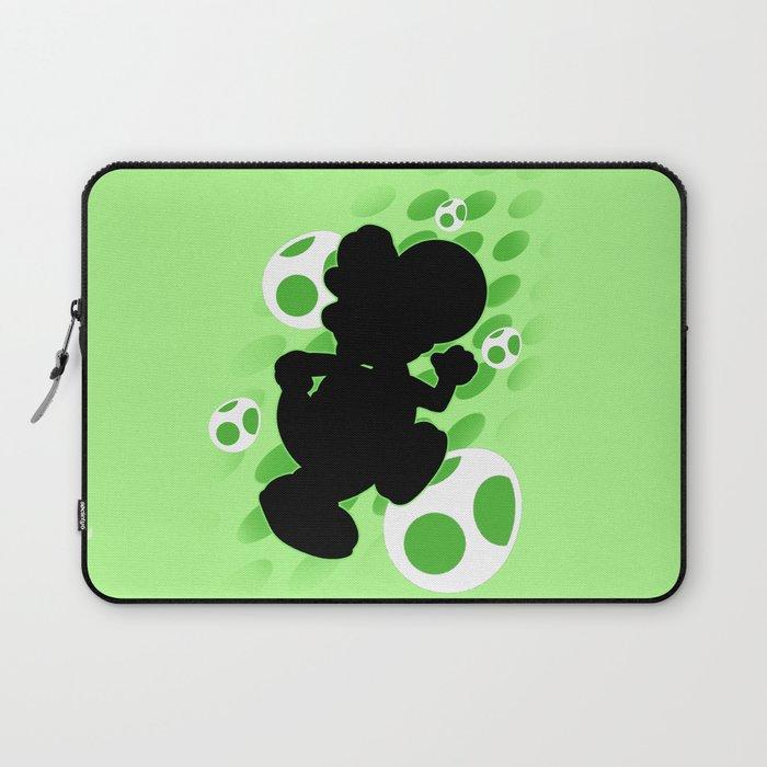 Super Smash Bros. Green Yoshi Silhouette Laptop Sleeve