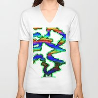 northern lights V-neck T-shirts featuring Northern Lights Inverted by Carrollskitchen on youtube