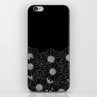 Daisy Boarder Black iPhone & iPod Skin