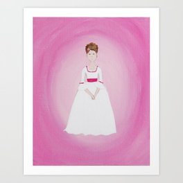 Pink Lady - Marie Antoinette Inspired Original Acrylic on Canvas Artwork Art Print