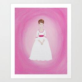 Pink Lady - Marie Antoinette Inspired Original Acrylic on Canvas Artwork Art Print