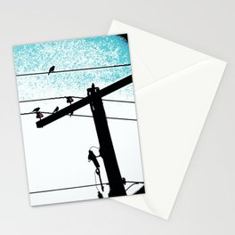 Power lines 507 Stationery Cards