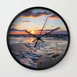 Sunset | The Point at Cape Henlopen State Park - Lewes, Delaware Wall Clock