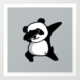 Dabbing Panda Art Print