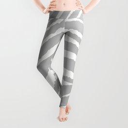 ZEBRA GRAY AND WHITE ANIMAL PRINT Leggings