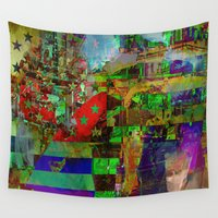 american Wall Tapestries featuring American dream by Joe Ganech