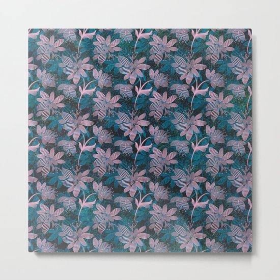 Tiny Flowers Pattern Metal Print