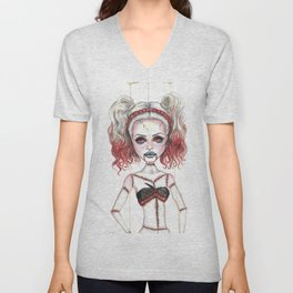 Marionette Corpse Art by Laurie Leigh Unisex V-Neck