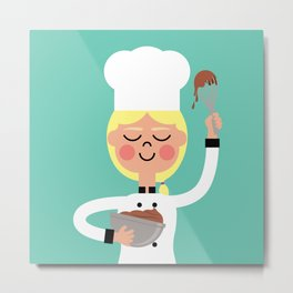 It's Whisk Time! Metal Print