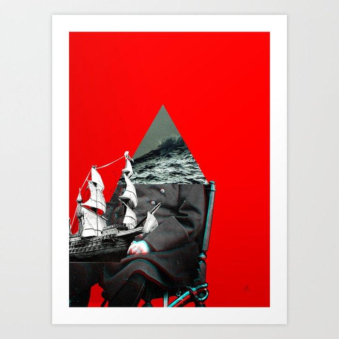 Der alte Mann und das Meer 2 Art Print