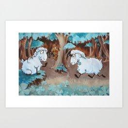 Three Leaves Clover Art Print
