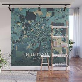 Huntsville, United States - Cream Blue Wall Mural