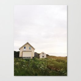 Summer houses Canvas Print