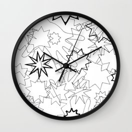 Hands and Stars Wall Clock