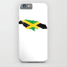 Jamaica Flag design distressed vintage iPhone Case