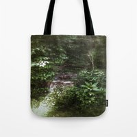 woodland Tote Bags featuring Woodland by Geni