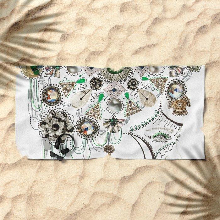 Mandala Headdress Beach Towel