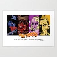 Pulp Heroes Tribute Art Print
