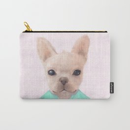 Portrait Of French Bull Dog Carry-All Pouch
