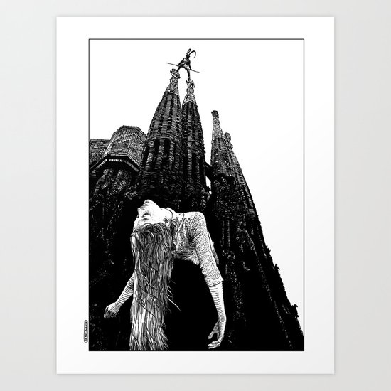 asc 335 - Les mystères de Barcelone I (The mysteries of Barcelona I) Art Print
