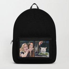Woman Yelling at Cat Meme-3 Backpack