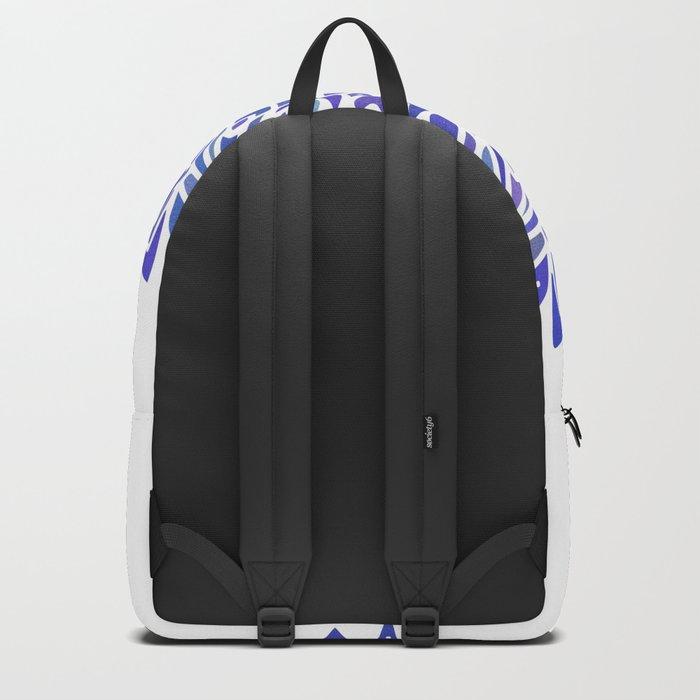 Mandala Vivid Blue Backpack