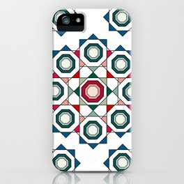 Tile mandala iPhone Case