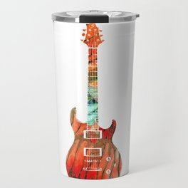 Electric Guitar 2 - Buy Colorful Abstract Musical Instrument Travel Mug
