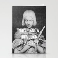 smiths Stationery Cards featuring Joan of Arc by Anna Dorfman