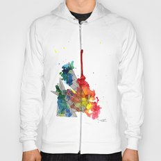 Watercolor and Fine Liner Triangles Hoody
