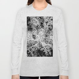 winter tree, looking down Long Sleeve T-shirt