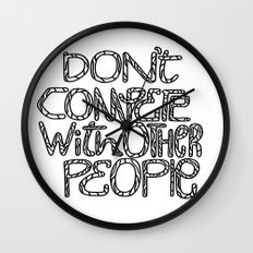 Compete With Yourself Wall Clock