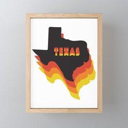 Retro Texas Framed Mini Art Print
