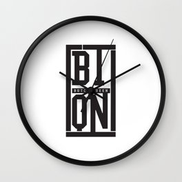 Butch Queen Initial Logo Wall Clock