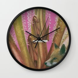 Self-Consciously Fluffed  Wall Clock