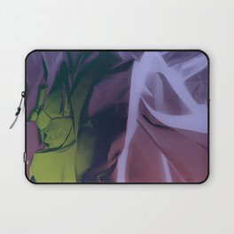 Deep Purple and Green Abstract Laptop Sleeve