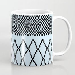 Moroccan Patchwork in Baby Blue Coffee Mug